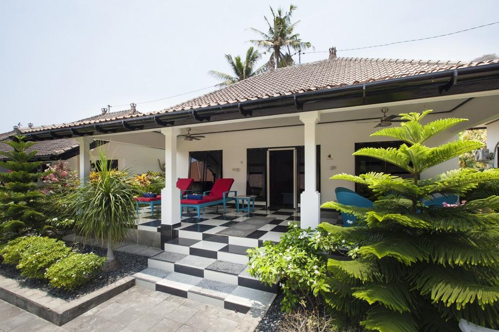 Bali beach hotel terras