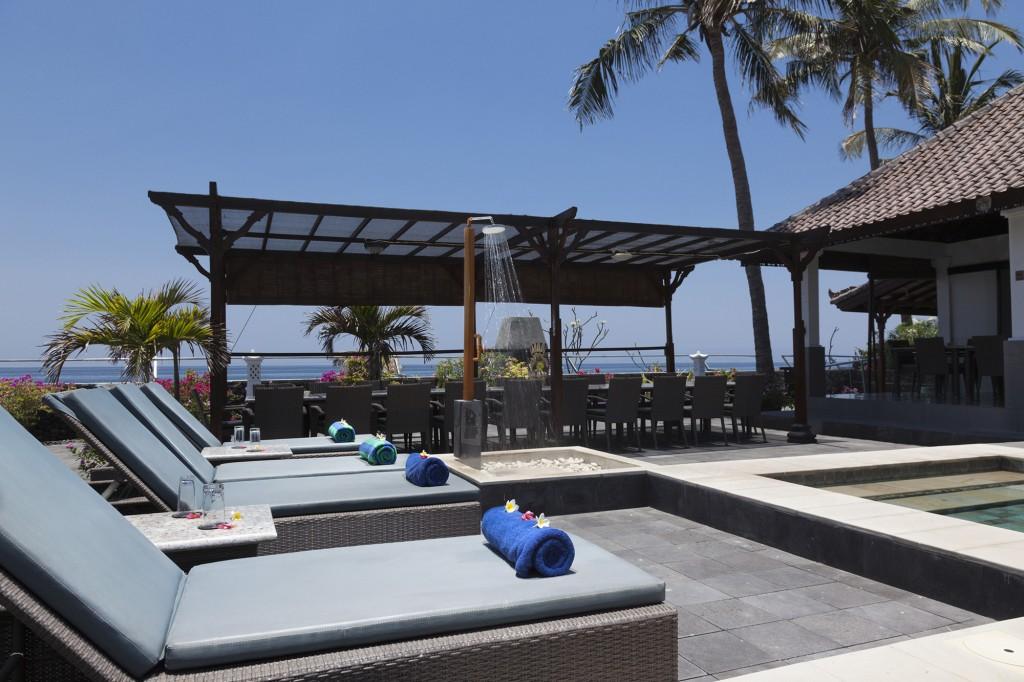 Bali beach resort ligbedden